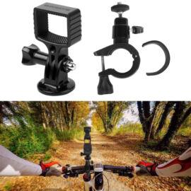DJI Osmo Pocket / Osmo Action / GoPro / Mobile 3 biciklis/motoros rögzítő (műanyag felfogatás + fém fej)