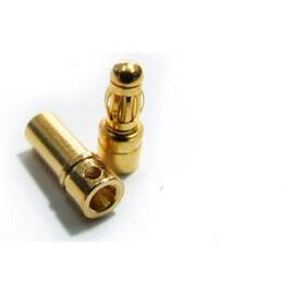 Aranyozott csatlakozópár (3,5 mm, 10 pár)