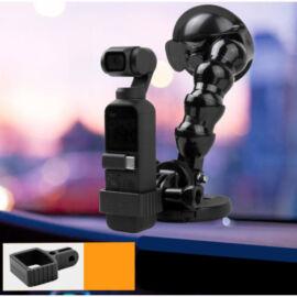 DJI Osmo Pocket / Pocket 2 - autós vákuumos rögzítő és multifunkcionális adapter (180 fokos, 1/4 colos, fém fejes)