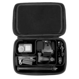 DJI Osmo ütésálló kézitáska (Action / Pocket / Pocket 2 / Mobile 3 / OM4 , DIY, gumírozott borítással)