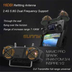 DJI Spark hatótávnövelő antenna (16 DBi)