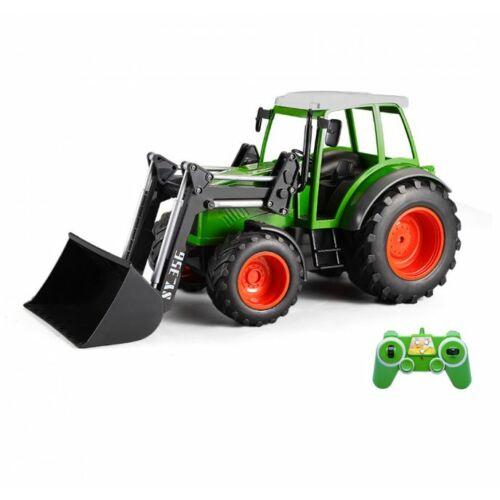 Távirányítású traktor homlokrakodóval (2,4 GHz, 1:16 méretarány)