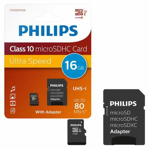 Phillips 16Gb microSDHC Class 10 memóriakártya