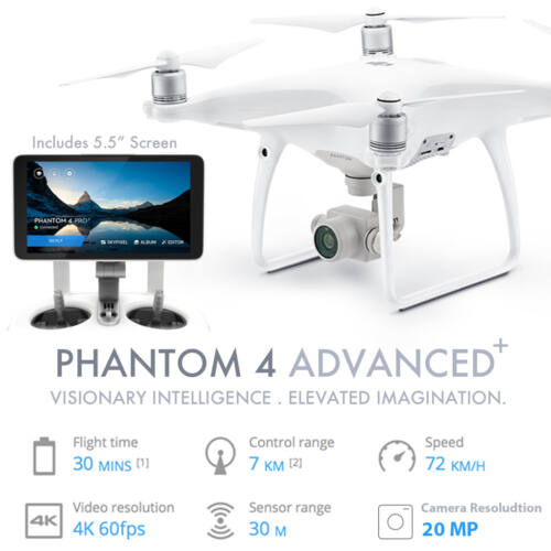 DJI Phantom 4 Advanced+ komplett drón szett