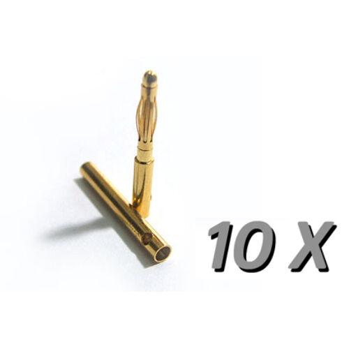 Aranyozott csatlakozópár (2 mm, 10 pár)