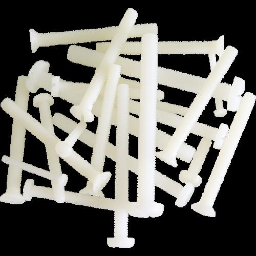Műanyag kereszthornyú csavar (M4x40, 10 db)