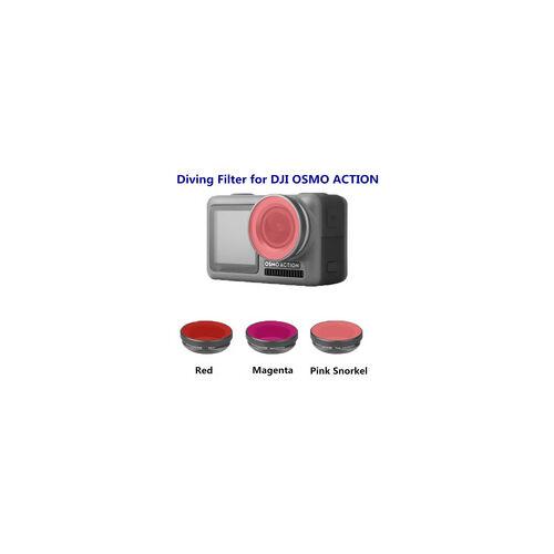 DJI Osmo Action Diving szűrő készlet (pink snorkel, red, magenta filter)