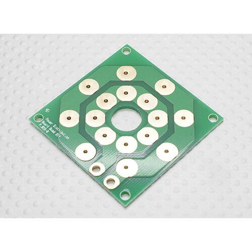 PCB tápelosztó panel (max. 8x20A)
