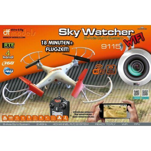 D&F Skywatcher WiFi FPV kamerás komplett RC quadcopter drón szett