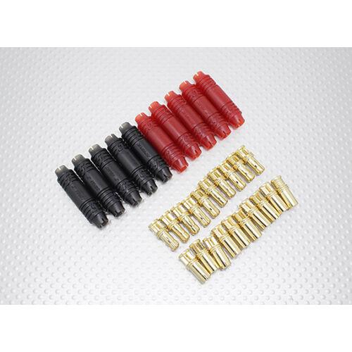 Aranyozott csatlakozópár (5 mm tokozott, 1 pár)